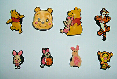 SHOE CHARMS (V1)) - CARTOON CHARACTERS inspired by WINNIE (8WP) pack of 8