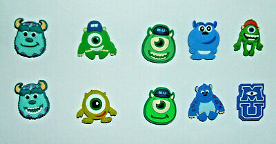 SHOE CHARMS (V3) - CARTOON CHARACTERS inspired by MONSTERS (10MUC) pack of 10