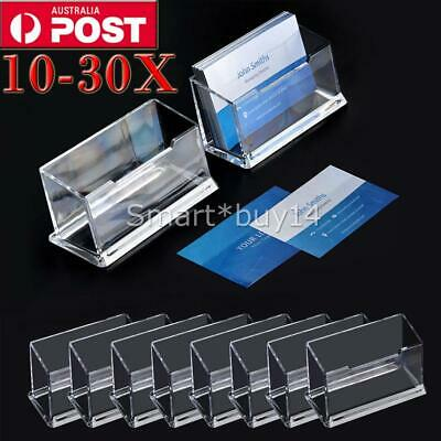 Business Card Holder Plastic Display Stand 10/20/30PCS AUS
