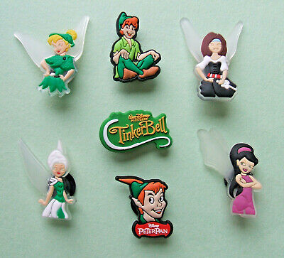 SHOE CHARMS (V4) - CARTOON CHARACTERS inspired by PETER & FAIRY (7TB) pack of 7