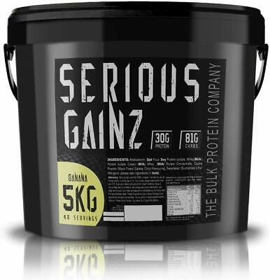 Serious Gainz Weight Gainer Elite Mass Whey Protein Powder Shake All Flavour 5kg