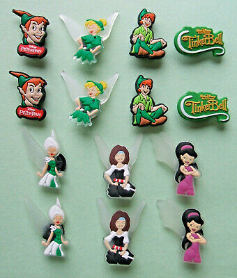 SHOE CHARMS (V4) CARTOON CHARACTERS inspired by PETER & FAIRY (14TB) pack of 14