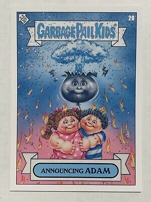 Topps Garbage Pail Kids Gpk 2019 The Worst Announcing Adam #20 Checklist
