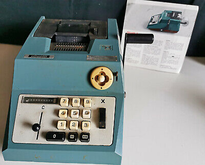 Vintage Olivetti Summa Prima 20 Manual Calculator & Instructions, Italy (a367)