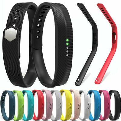 Silicone Accessory Band Strap Bracelet For Fitbit Flex 2 Tracker Small/Large New