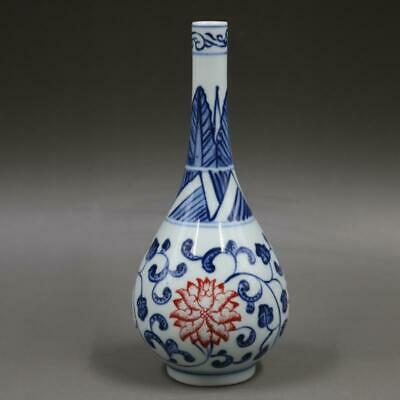 Chinese ancient antique hand make Blue and white vase  Porcelain decoration  W2