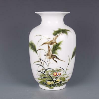 Chinese ancient antique hand make vase Porcelain decoration qianlong mark
