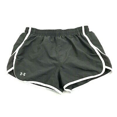 Under Armour Women's Runner Shorts Size s Small Semi-Fitted Gray Lined Pull On