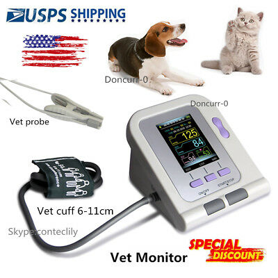 FDA Digital Veterinary Blood Pressure Monitor NIBP cuff, Vet probe ,Dog/Cat/Pets
