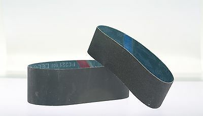 "2pc 6""x2-1/2""  60Grit Silicon Carbide Abrasive Sanding Belt for Glass Lapidary"
