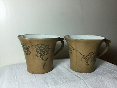 Chinese 1900'S Qing / Republic 北岩 Yixing Zisha Clay Pottery Tea Cup Teacup Set
