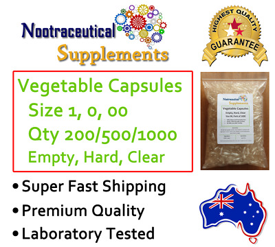 High Quality Empty Clear Hard Vegetable Capsules Vegan No Gelatin - Size 0 00