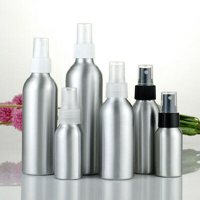 Mini Aluminum Cosmetic Emulsion Perfume Atomizer Empty Spray Bottles 100ml/50ml