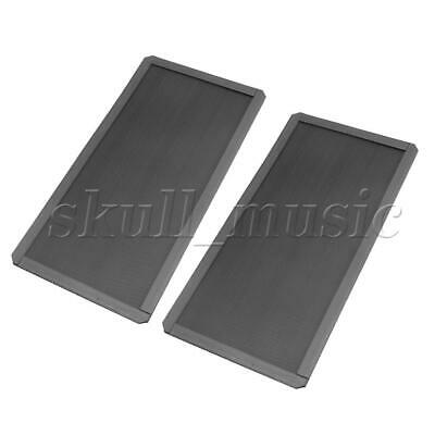 Black PVC Magnetic Computer Protector Dust Filter 120x240x2.0mm Pack of 5