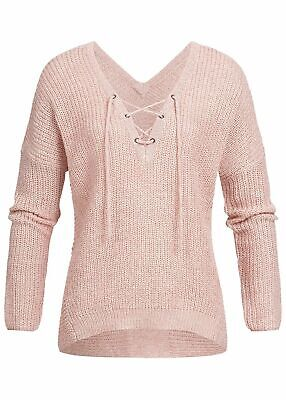 37/% OFF B18020757 Damen Only Pullover Strick Bommeldetail Flamingo Print weiß
