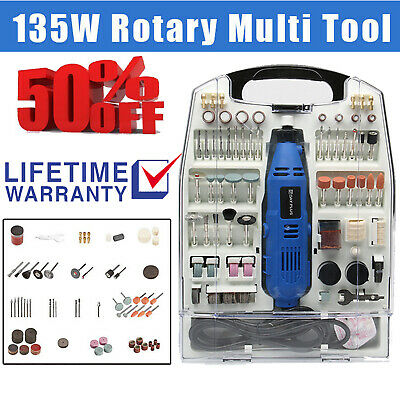 234PC Electric Rotary Multi Tool Hobby Precision Drill Dremel Type Polishing UK