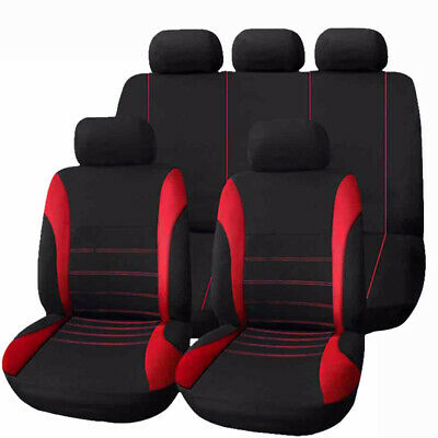 Universal Neo Car Seat Covers Washable Airbag Safe Full Set Red