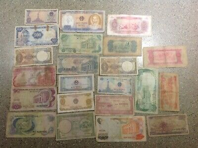 22 pcs. Of Old VIETNAM banknotes