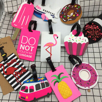 GC- AD_ Flexible Ice Cream Donut Luggage Tag Travel Suitcase Name ID Label Ident