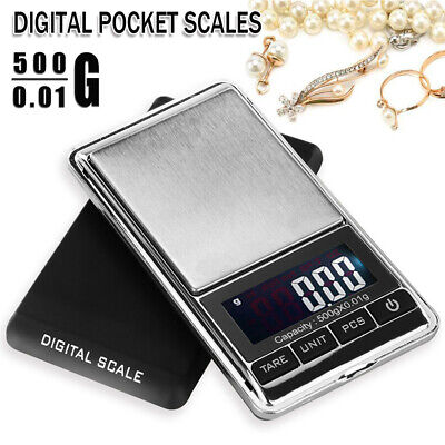 Electronic Pocket Mini Digital Gold Jewelry Weighing Scale 0.01g Weight 500g AU