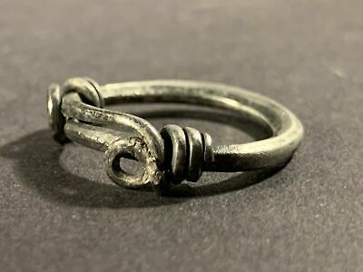 Beautiful Ancient Viking Norse Solid Silver Coiled Knot Ring Circa 750-850 Ad