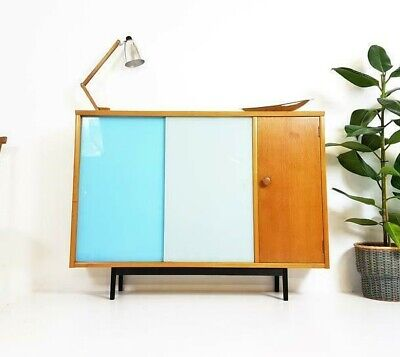 VINTAGE MID CENTURY SIDEBOARD / CABINET 1960s DANISH INFLUENCE RETRO