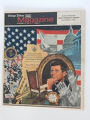 Chicago Tribune Sunday Magazine ~ November 22, 1964 ~ JFK Memorial  RARE