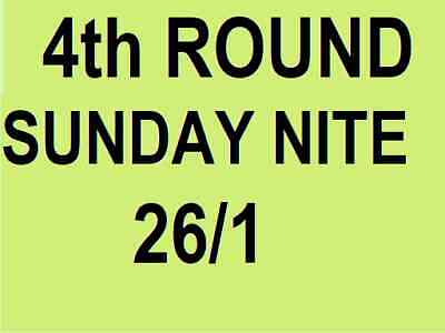 AUSTRALIAN OPEN TICKETS ~ 4th ROUND ~ SUNDAY 26 JAN 26/1 SUN