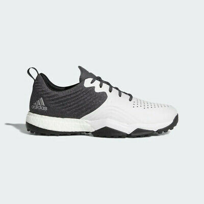 NEW Men's Adidas Adipower 4ORGED S Golf Shoes Black / White / Silver Sz 12 M