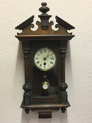 Antique Wall Clock / Timepiece, With Key.