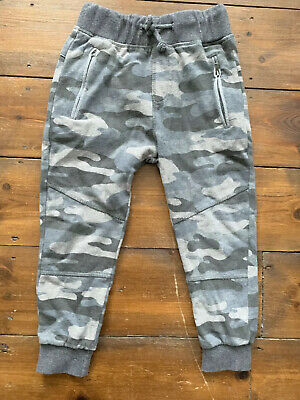 Boys Zara Joggers Age 6 Years Grey Camouflage Pattern Elasticated Waist