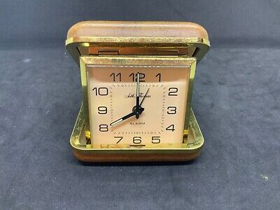 Vintage Seth Thomas Traveling Alarm Clock Made in Germany