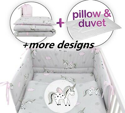 PINK UNICORN Baby Bedding Set fit Cot 120x60cm ,Cot Bed 140x70 -BABY GIRL BOY