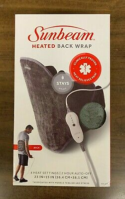 Sunbeam 806-825 Heated Back Wrap 23x15 New In The Box Free Shippng