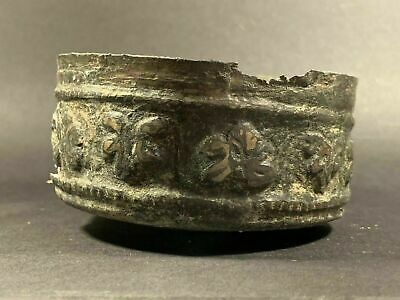 Very Beautiful & Highly Detailed Ancient Roman Bronze Bowl - Circa 100-200Ad