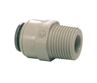 """John Guest Speed Fit Male Adapter, 3/8"""" x 1/4 nptf 10 Pack PI011222S"""