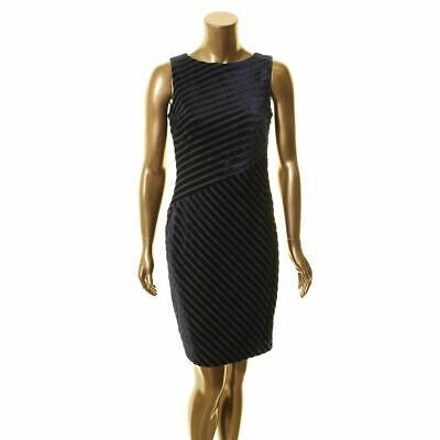 Lauren Ralph Lauren Women's B//W Striped Asymmetrical Flounce Dress L 708001 NWT