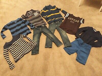 Boys Bundle Age 4-5 - Jeans Shorts Jumpers Tshirt Tops (9 items!)