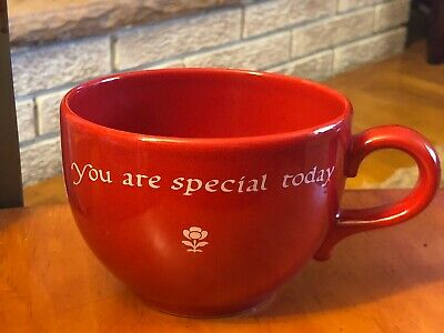 """You are special today"" Waechtersbach Germany, Red Mug 3.75""T 4.75"" Large Soup"