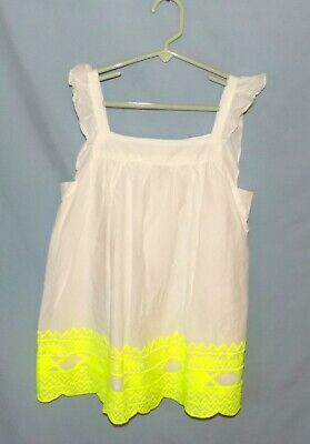 Timeless & Classic  Cherokee White Dress/Top Girls Size Large (1012)
