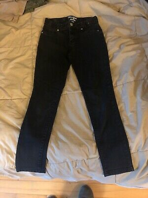 Cat & Jack Stretchy Super Skinny Adjustable Waist Black Jeans Pants, Boys 12