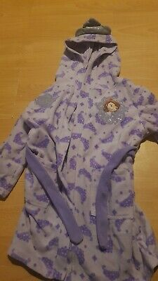 Girls Aged 2-3 Disney Sofia The First Dressing Gown Purple