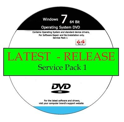 Windows 7 64-Bit PROFESSIONAL Repair / Recover / Re-Install DVD 2020 Edition