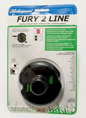 New Shakespeare Universal Trimming And Edging Grass Fury 2 Line Trimmer Head
