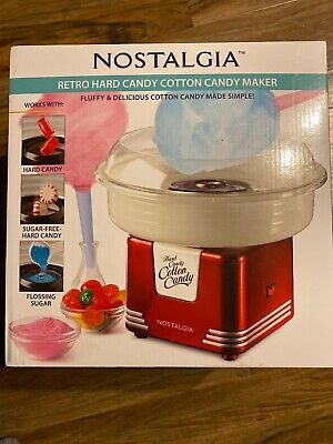 Nostalgia Electrics Cotton Candy Maker Machine Hard Sugar Red 450w