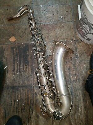 1957 Conn 10M Naked Lady Tenor Saxophone Silver Plated S/N#669323