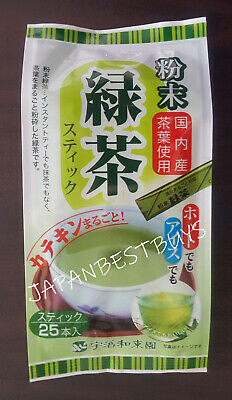 Green Instant Tea Powder MATCHA Style - 25 sticks - Made In Japan.Free Postage