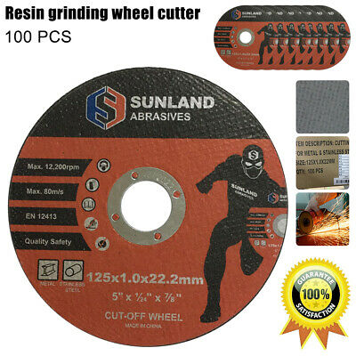 "5"" CUTTING DISC 125mm METAL CUT OFF WHEEL ANGLE GRINDER THIN STEEL STAINLESS 1mm"