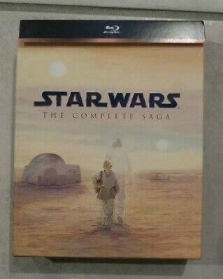 Star Wars: The Complete Saga (Blu-ray Disc, 2011, 9-Disc Set) OOP Box Set