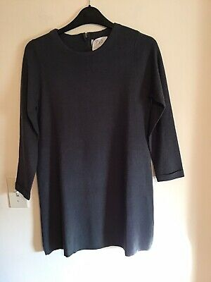 NWT Zara Kids Gray Knit Long Sleeve Dress Sz 11-12